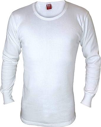 HEAT HOLDERS - Hombre Algodon Invierno Manga Larga Camiseta Interior Termica: Amazon.es: Ropa y accesorios