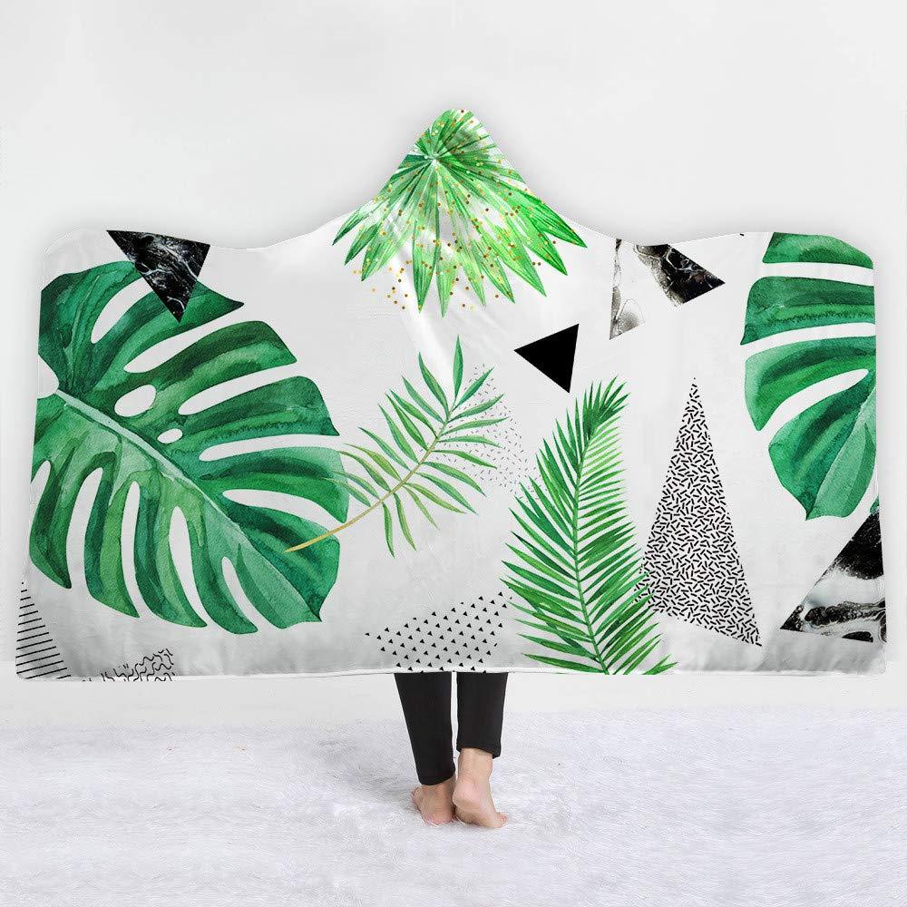 LMTR-blanket Manta con Capucha Serie de Plantas de Animales Tropicales con Capucha Gorro Manta Manta Gruesa Manta Capucha Manta Siesta Manta niños Manta