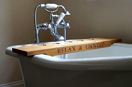 Personalised Wooden Bath Tray: Amazon.co.uk: Kitchen & Home