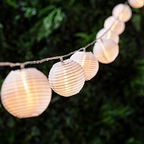 huge selection of 7c40c f513d Lights4fun 20 Warm White LED Chinese Lantern Connectable Fairy Lights  Indoor Outdoor Use