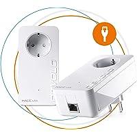 Devolo Magic 2 LAN: Leistungsfähiges Powerline-Starter Kit mit 2400 Mbit/s für Heimnetzwerk, 1 Gigabit LAN-Anschluss pro Adapter für magisches Internet aus der Steckdose, weiß