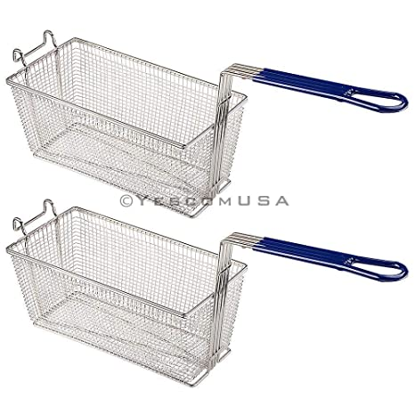 Amazon.com: 2 cestas de freír de 13 x 6 x 6 pulgadas, de ...