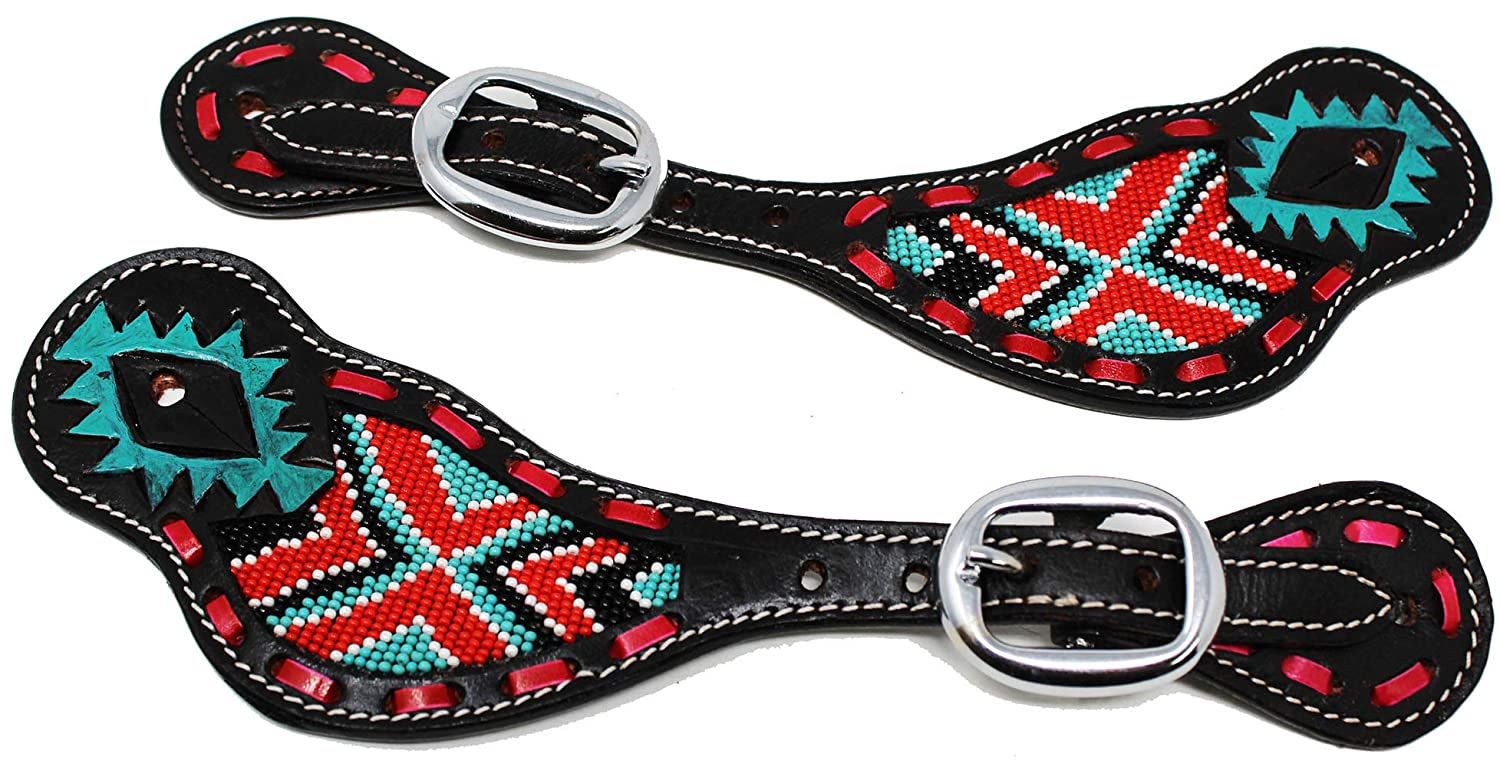 CHALLENGER Horse Western Riding Cowboy Boots Leather Spur Straps Tack 74146