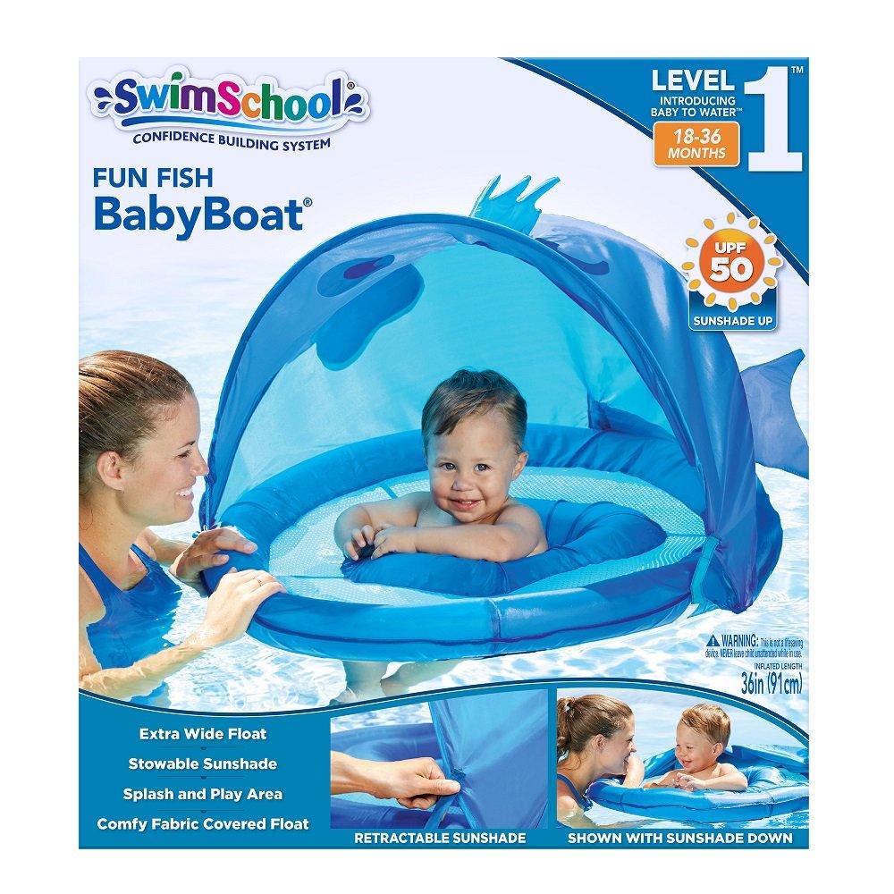 Amazon.com: SwimSchool ET9013B Fun Fish Fabric Baby Boat, Blue: Toys ...