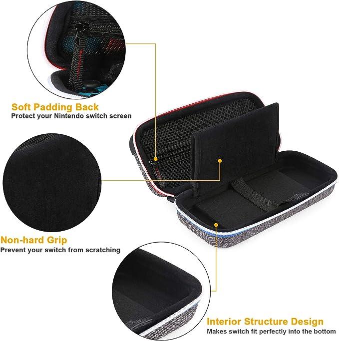 BAGSMART - Funda rígida para Nintendo Switch, color negro: Amazon.es: Videojuegos