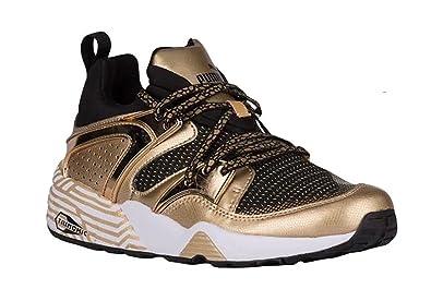 Puma Womens Blaze Of Glory Metallic Shoes (5.5, Black team Gold)