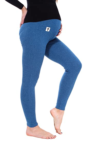 5ed316883ff6a4 Image Unavailable. Image not available for. Color: Harcadian Pregnant Women  Leggings Solid Stretch Leggings Pants For Maternity Blue