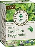 Traditional Medicinals Organic Green Tea Peppermint Tea, 16 Tea Bags (Pack of 6)