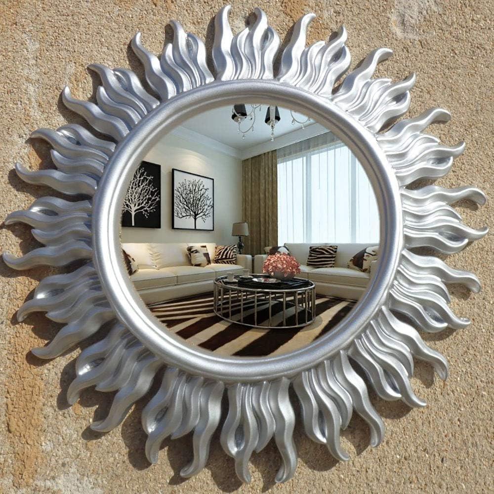 MIIAOPAI Schminkspiegel Einseitiger Badspiegel FüR Die Wandmontage Im Badezimmer Silver