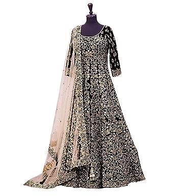 018ab1fdacf Amazon.com  Anarkali Salwar Kameez Designer Indian Bollywood Ethnic Bridal  Wedding  Clothing