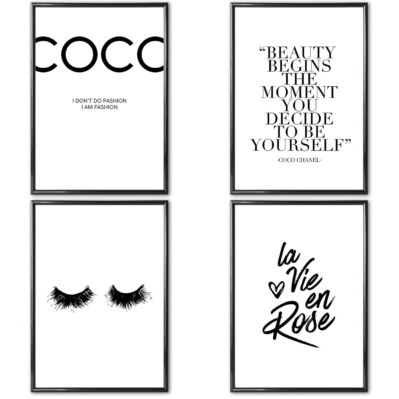 VERSCHIEDENE Poster Set \'s » Coco Chanel « 4 x DIN A3 ohne ...