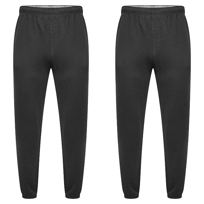 Parsa Fashions Mens Open Hem Jog Pants//Men Plain Jogging Bottoms Joggers Fleece Pants Gym Sports Trousers Plus Sizes Small to XXXXXL 5XL