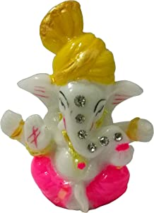 Sahishnu Online And Marketing Idol Ganesha Statue for Home Decor/Car Decor,Mini Lord Ganesha,Hindu God Success, 2.5 Inches
