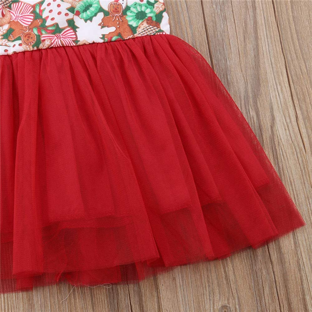 Muasaaluxi Baby Girl Sister Christmas Clothes Sleeveless Tutu Romper Santa Claus Princess Party Xmas Dress Outfit