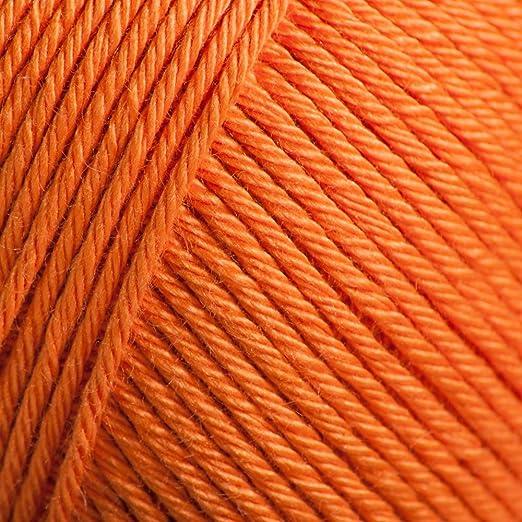 Rowan - Ovillo de lana de algodón para tejer (50 g, persimmón 832): Amazon.es: Hogar