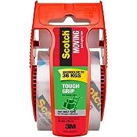 Scotch 150-AU Tough Grip Moving Packaging Tape, 48mm x 20.3m, Packs 150