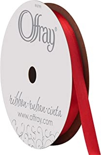 """product image for Berwick Offray 062029 1/4"""" Wide Single Face Satin Ribbon, Red, 6 Yds"""