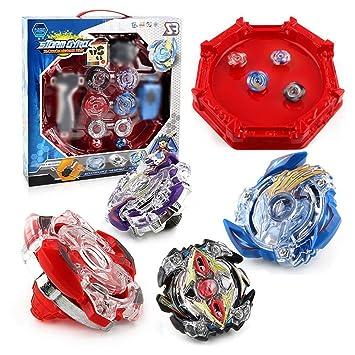 d3174678d074ef ZCSMg Beyblade Set mit Launcher und Arena Fight Battle Fusion Classic  Spielzeug für Kinder