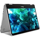 "New ASUS VivoBook 2 in 1 Flip 14"" FHD LCD Touchscreen Laptop Computer, Intel Pentium N5000 up to 2.7GHz, 4GB LPDDR4, 64GB eMMC, Bluetooth, Webcam, Micro HDMI, Fingerprint Reader, Window 10 in S Mode"