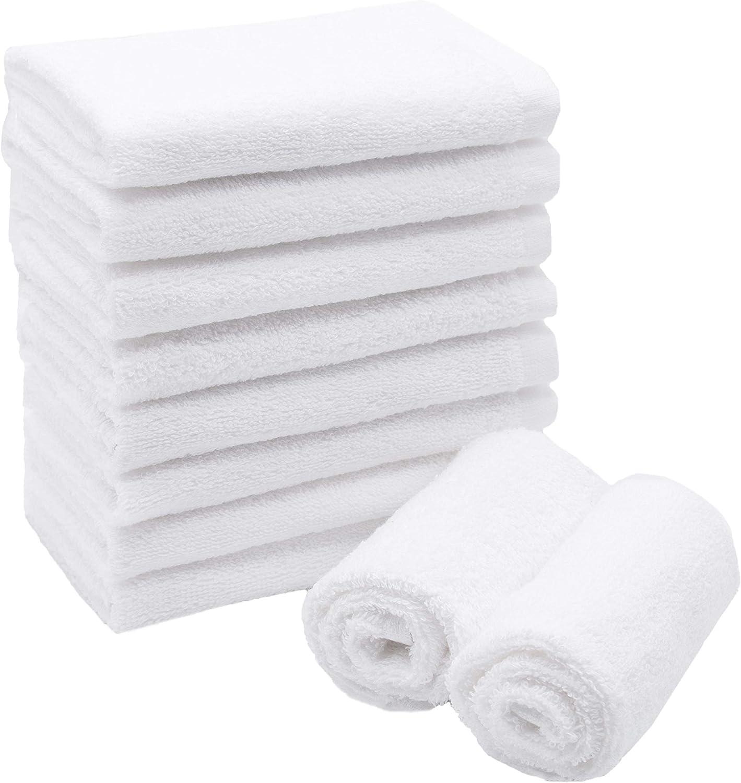Blanc ZOLLNER 10 Serviettes lavettes en Coton 30x30 cm