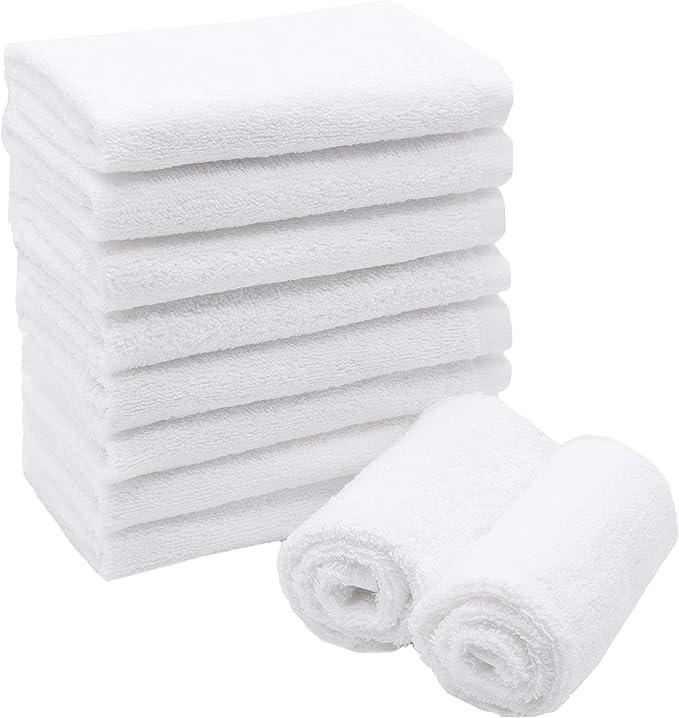 Coton 30x30 cm Blanc ZOLLNER 10 Serviettes lavettes Autres Disponibles