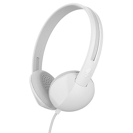 Skullcandy Anti Stereo Headphones White and Grey, S5LHZ J568  On Ear Headphones