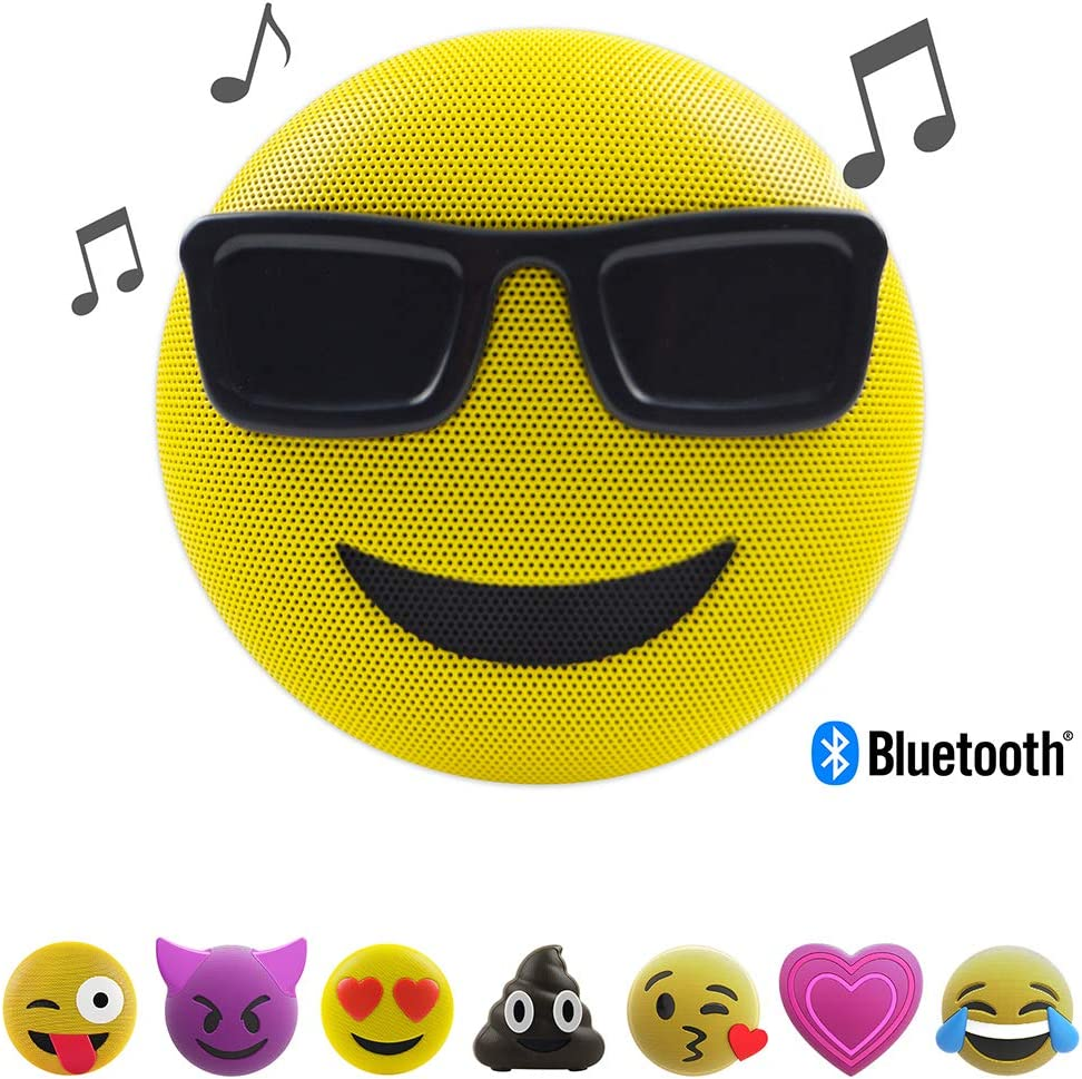 Jam Audio Jamoji Too Cool Emoji Portable Bluetooth Speaker, Perfect  Stocking Filler, Wireless, 8hrs Battery Life, Speakerphone, Integrated  Stand,