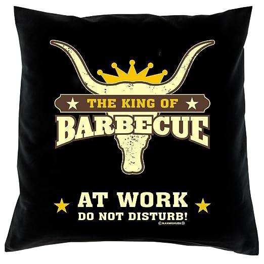 Sabuy Funda de cojín - The King of BBQ at Work - Do Not ...