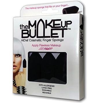 Amazon.com : The Makeup Bullet Finger Sponge (Black, 3-Pack) - The Most Versatile Makeup Sponge - Washable, Reusable, Used Wet or Dry, Latex-Free : Beauty