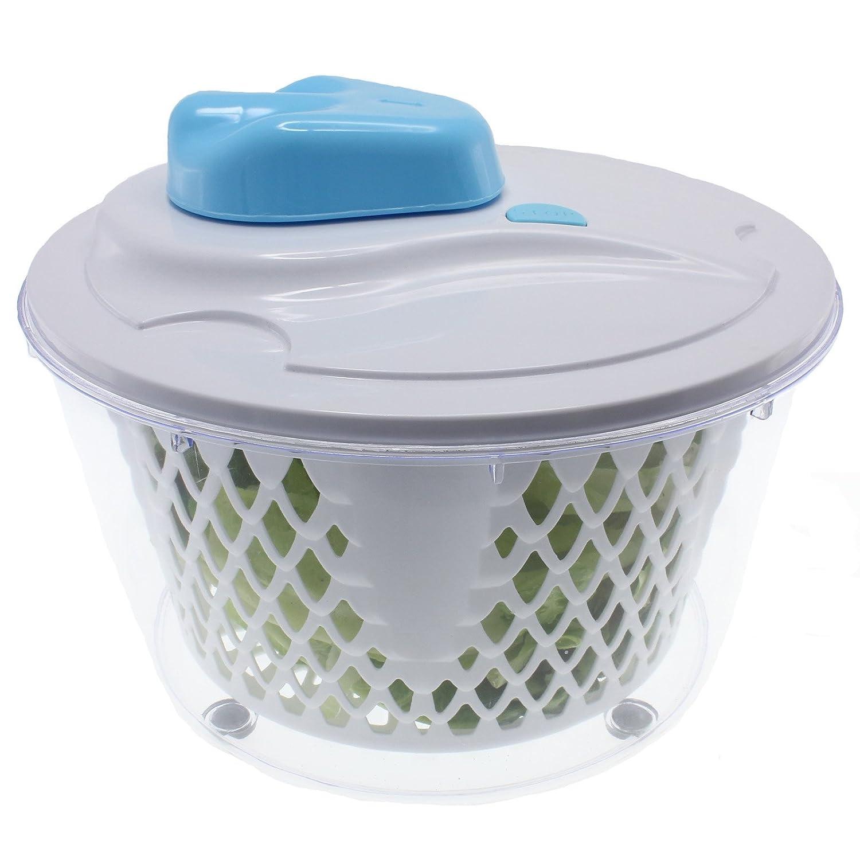 Freshware KT-501 Instant Start-Stop Salad Spinner, White