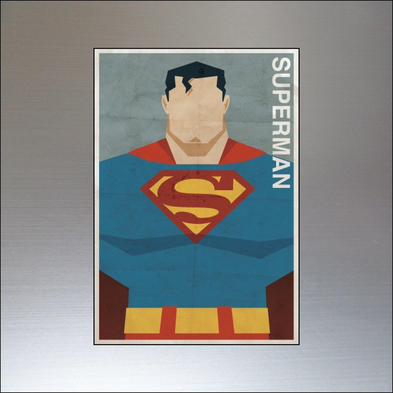 Vintage Super Hero and Villain Fridge Magnets Set of 8 large fridge magnets No.1