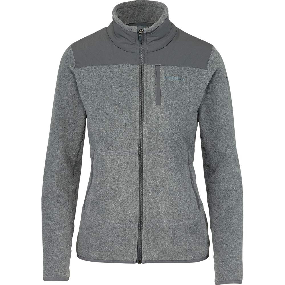 Merrell Flux Mid-Weight Hybrid Full-Zip Polar Fleece Womens
