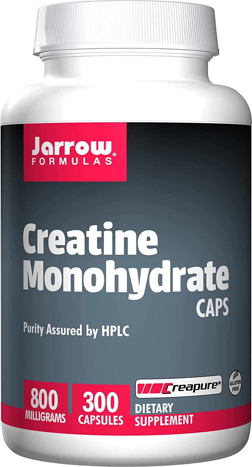 Jarrow Formulas Creatine Monohydrate, Assists in Sports Performance, 800 mg, 300 Capsules
