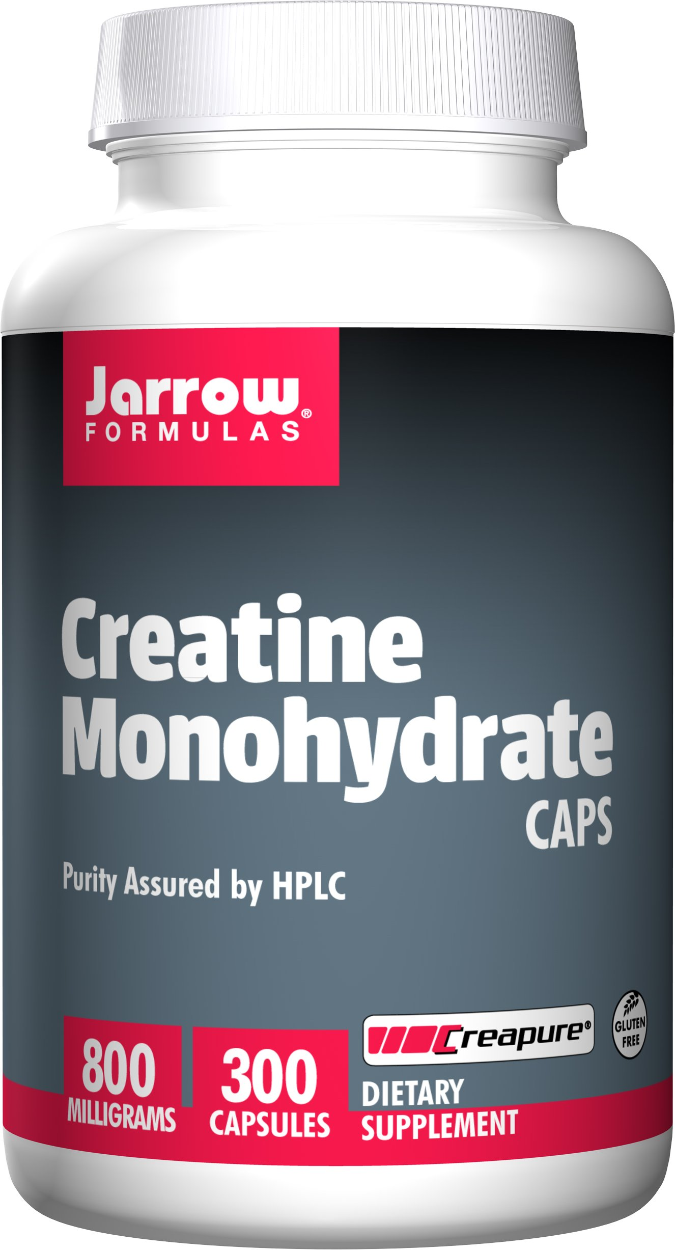 Jarrow Formulas Creatine Monohydrate, Assists in Sports Performance, 800 mg, 300 Capsules by Jarrow Formulas
