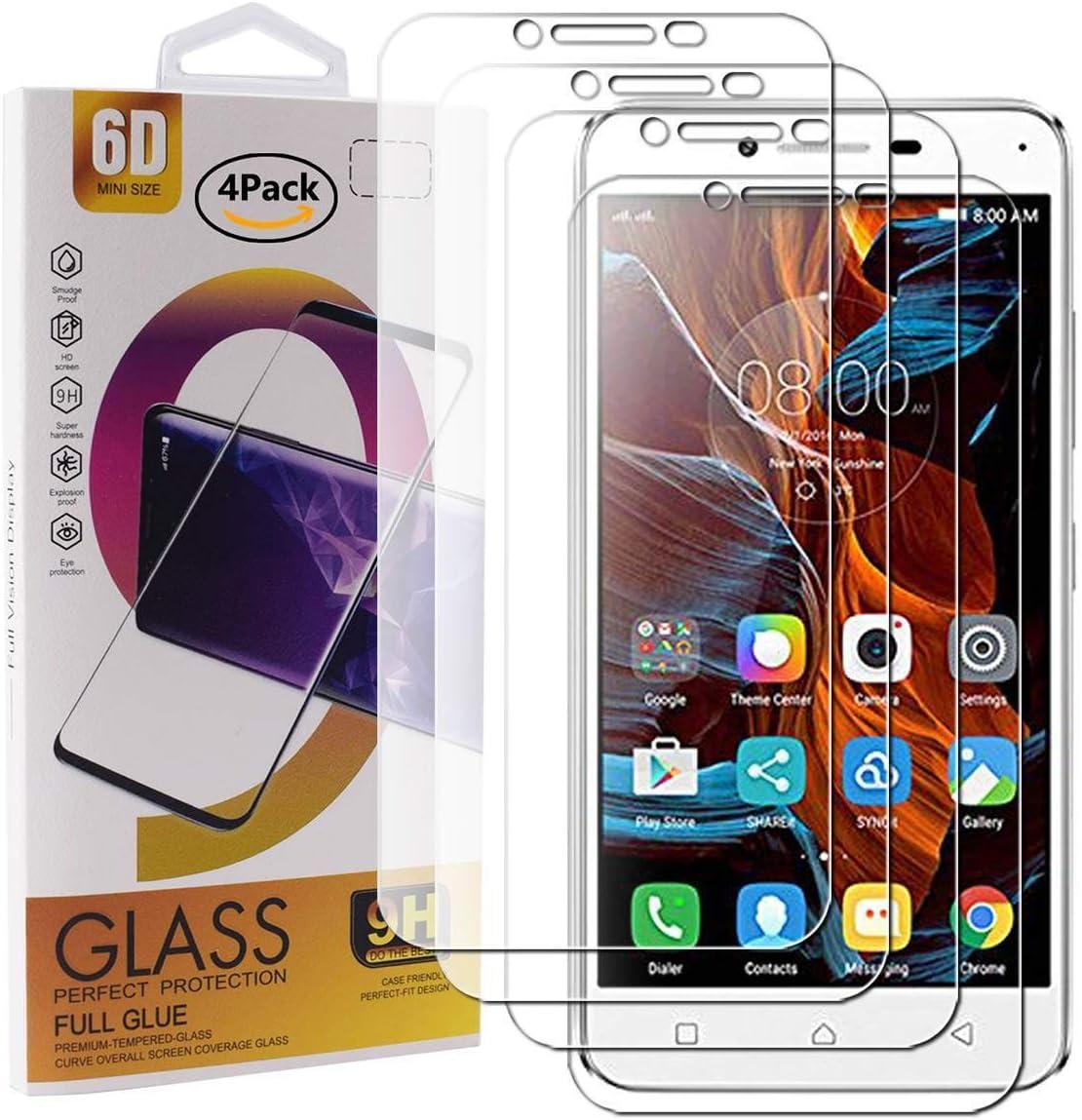 Guran 4 Paquete Cristal Templado Protector de Pantalla para LG Q7 ...