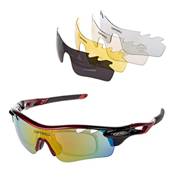 Gafas de sol, LOFTWELL Gafas de sol deportivas polarizadas con 5 lentes intercambiables para Hombres