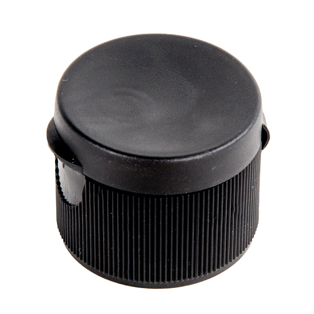 28mm by 410 Thread Black Ribbed Snap Top Caps 120 Caps