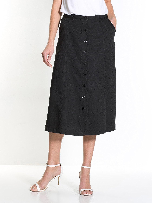 Charmance-Falda botones, Largo: 71 cm. negro 52: Amazon.es: Ropa y ...