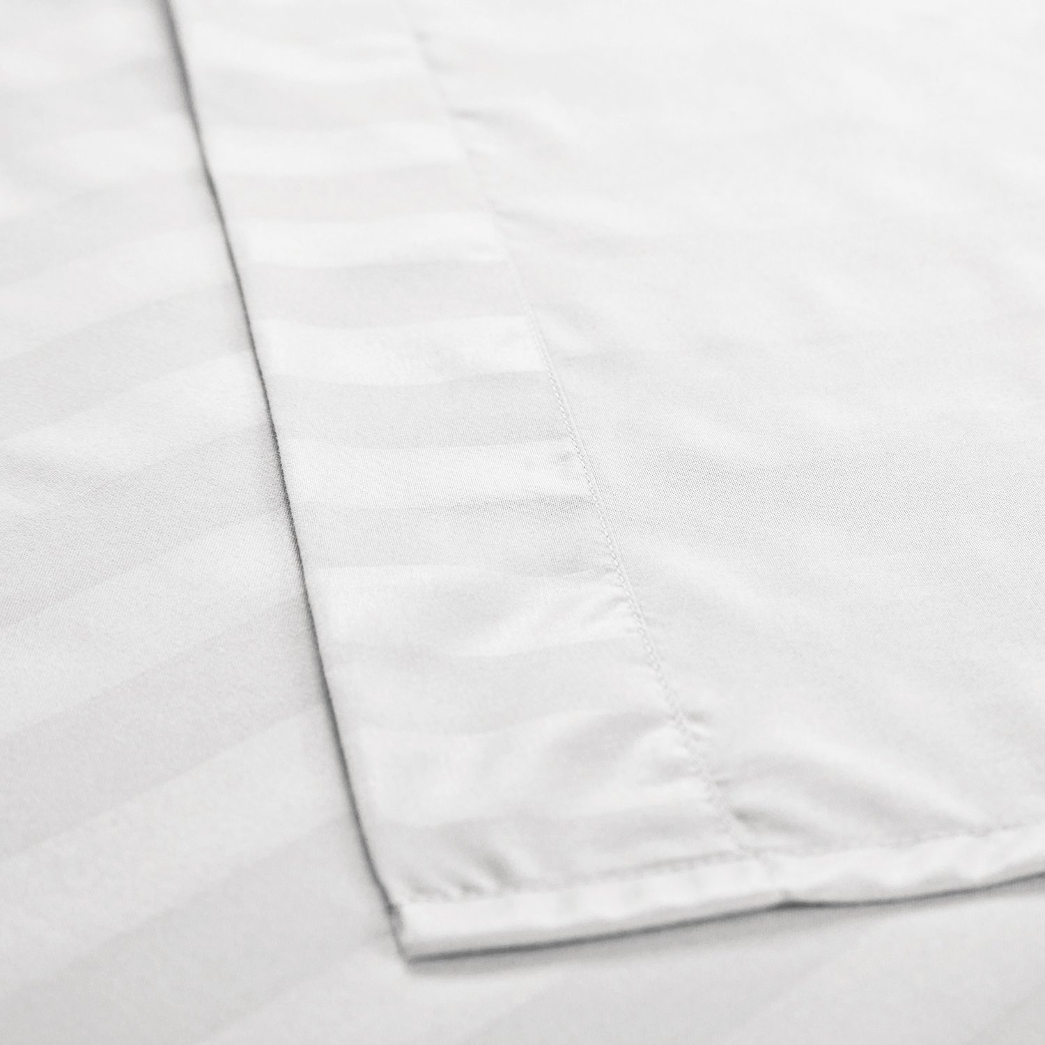 Striped Bedding Sheet Set King Plain White 4-Piece with Deep Pocket Fitted Sheet by Bedsure