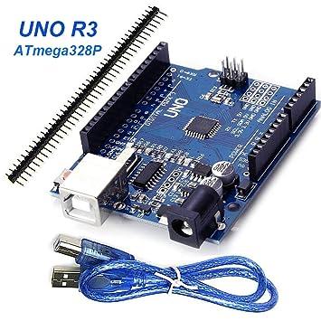 Goosky Arduino UNO R3 ATmega328P Tarjeta controladora ...