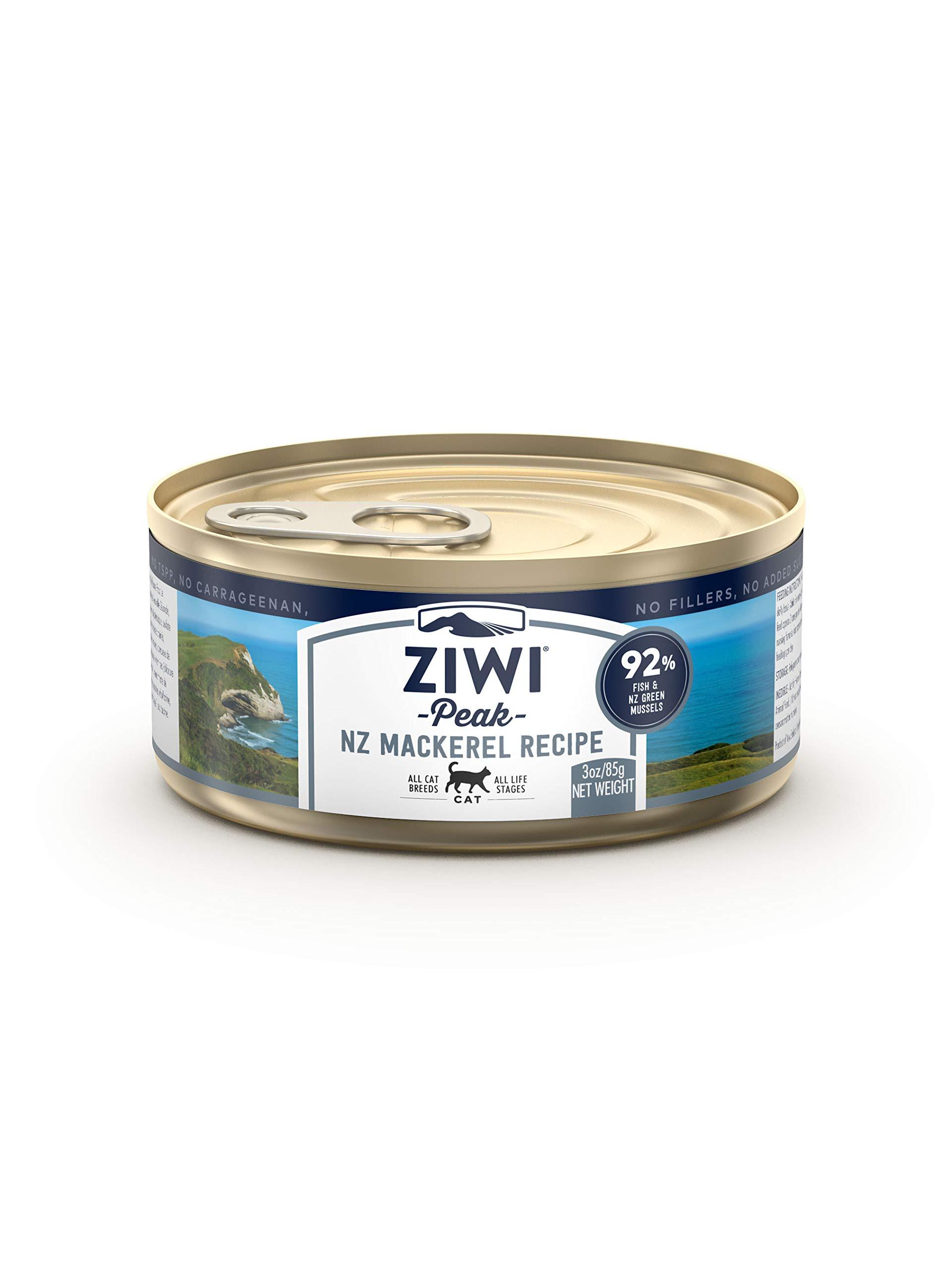 Ziwi Peak Canned Mackerel Recipe Cat Food (Case of 24, 3 oz. Each) by Ziwi Peak