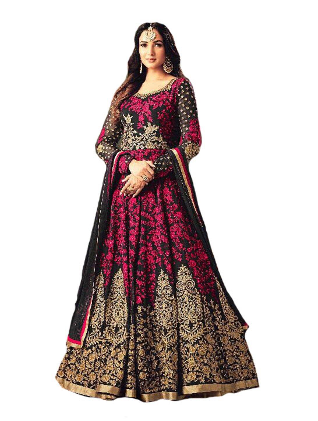 Ready Made Designer Fashion Anarkali Salwar Kameez Party Wear Maisha New (Pink, M-40)