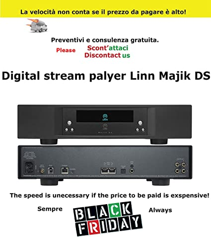 Vaporizador Player Alta amplificador digital Stream Player Linn Majik DS Black negocio intermarket Hi-Fi Roma ...