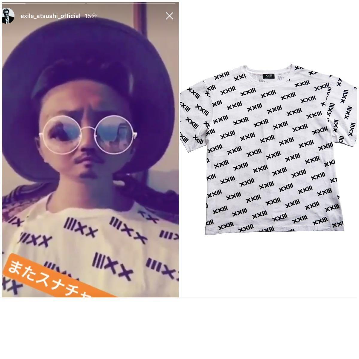 EXILE ATSUSHI着 XXIII LOGO PATTERN TEE Tシャツ Lサイズ   B07HJHT96G