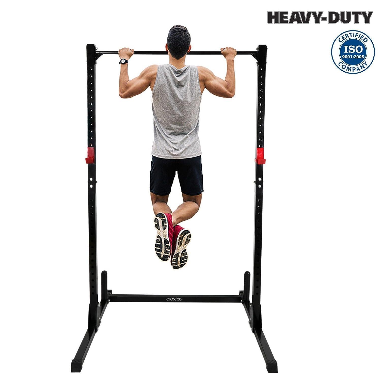 Amazon com: Cirocco Height Adjustable Power Squat Rack Cage