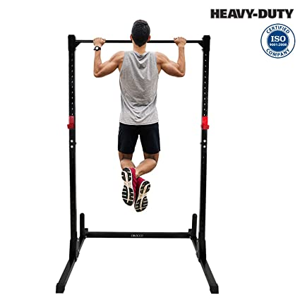 2b159f7a3fc895 Cirocco Height Adjustable Power Squat Rack Cage Stand Tower Bench Weight  Lifting Station Pull Up Bar