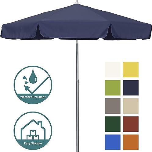 Shade Basics ALMN758A308-P04 Patio, Market, Outdoor Umbrella, Navy Blue