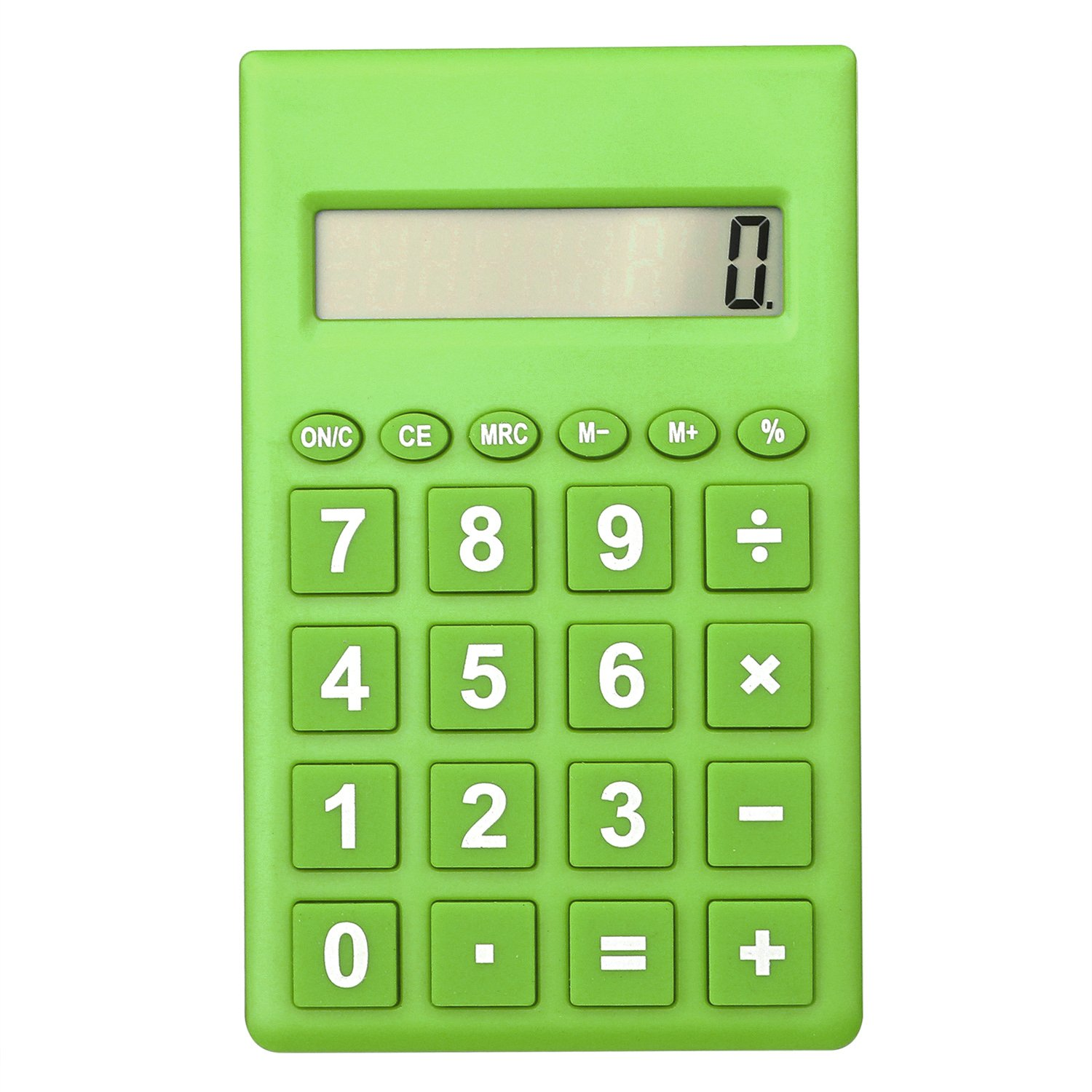 Bear Motion Mini Standard Function Handheld Calculator 8-digit Display - Green BMMINISTDCALCGN