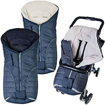 Winter-Fußsack mit Fleecefutter für Babyschale /& Tragewanne schwarz-weiß *NEU