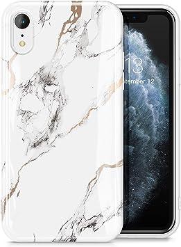 GVIEWIN Coque iPhone XR Marbre, Housse de Protection en TPU Souple ...